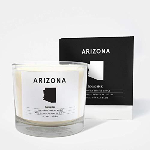 Homesick Duftkerze mit 3 Dochten, Brenndauer 90 bis 110 Stunden, Arizona