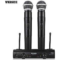 WEISRE PGX58 VHF Sistema de Micrófono de Micrófono Inalámbrico Dual para Karaoke Party KTV, etc.