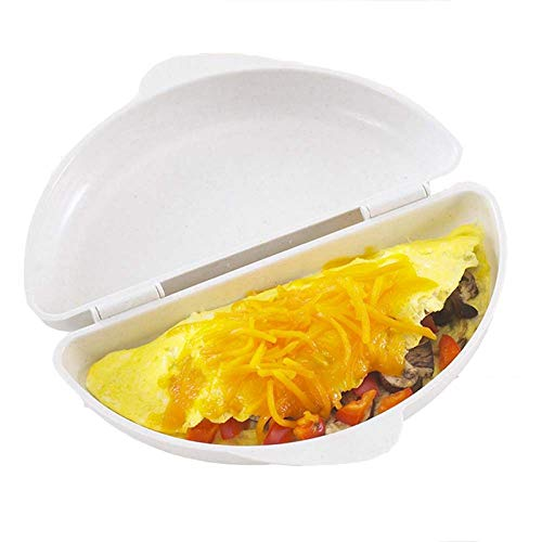 FEDBNET 1 Pieza Microondas Omelette Maker Dos Huevos Microondas Omelet Olla Sartén Horno Microondas...