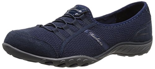 Skechers Damen Breathe-Easy Good Life Sneakers Navy