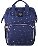 VISMIINTREND Waterproof Durable Travel Baby Diaper Bag Backpack Maternity Nappy (Large Navy Blue)