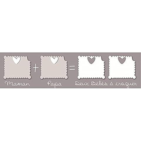TITOUTAM-Marco múltiple para 4 fotos, diseño de bebés gemelos bébéà croquer, color gris