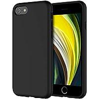 """JETech Funda de Silicona Compatible iPhone SE 2020, iPhone 8 y iPhone 7, 4,7"""", Sedoso-Tacto Suave, Cubierta a Prueba de Golpes con Forro de Microfibra (Negro)"""