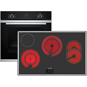 Siemens hb213abs0+ ET845HH17Keramik Ofen Elektro-Kochgeräte-Set-Sets Haushaltsgeräte KÜCHE (Keramik, Glas und Keramik, Schwarz, 1500W, Berührung, 79,5cm)