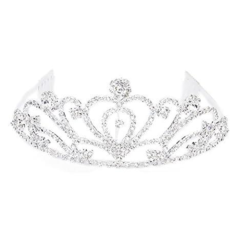 Tiara Mode Strass Braut Krone Stirnband mit Kamm Diadem
