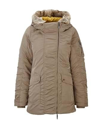 Bench Damen Jacke Jacke Snork Beige (lead gray) Small