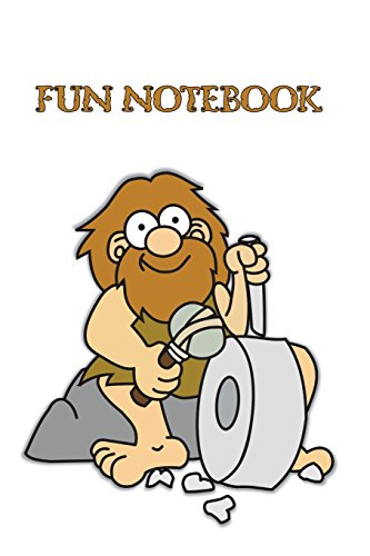 Fun Notebook: Boys Books - Mini Composition Notebook - Ages 6 -12  - Funny Caveman