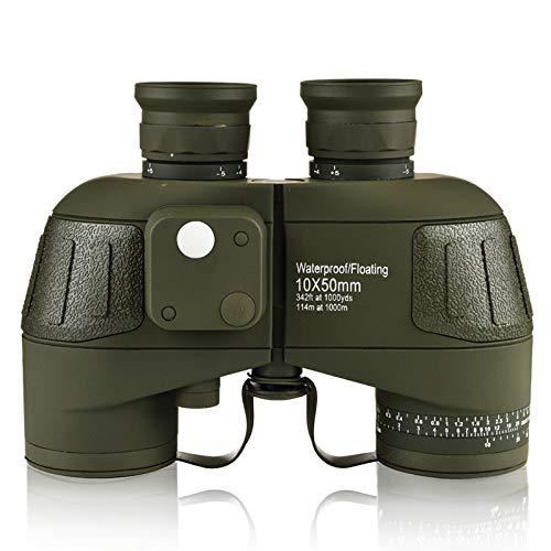 AOKASIX 10x50 Fernglas mit Nachtsicht Entfernungsmesser Kompass BAK4 FMC Militär Marine Fernglas Ferngläser Feldstecher mit Gurt und Tasche für Kinder Erwachsene