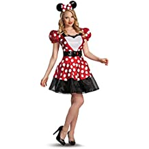 Red Glam Minnie Mouse Fancy dress costume Size 8/10