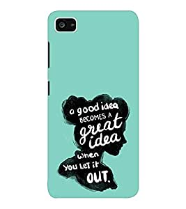 EPICCASE Let it out Mobile Back Case Cover For Lenovo ZUK Z2 (Designer Case)