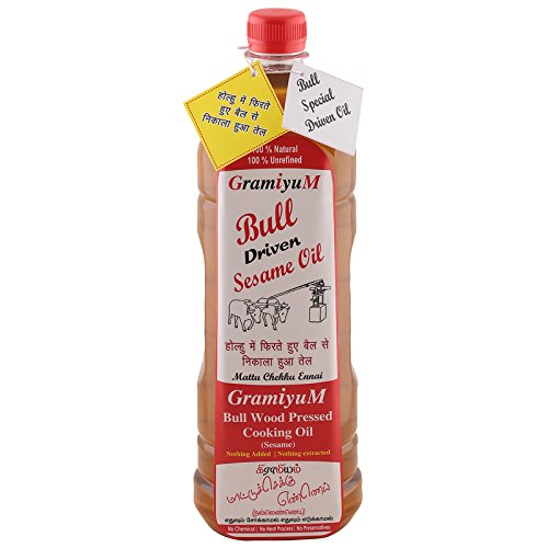 Gramiyum Bull Wood Pressed Cooking Oil 1000ml(sesame oil)