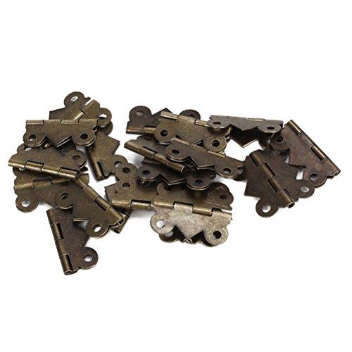 PIXNOR Vintage Mini Iron Butterfly Butt Scharniere für Schrank Schublade - 20ST (Bronze) -