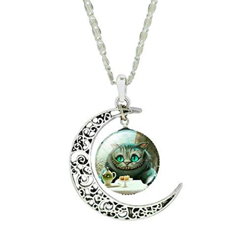 femmes-mode-creux-new-moon-mignon-cheshire-cat-art-photo-pendentif-collier-tour-de-cou