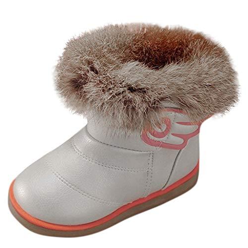 Bottines Fille Enfant ☂☃ Noël Enfants bébé Nourrisson garçons Filles Enfant Cuir Hiver Chaussure Chaud Chaussures Bottes