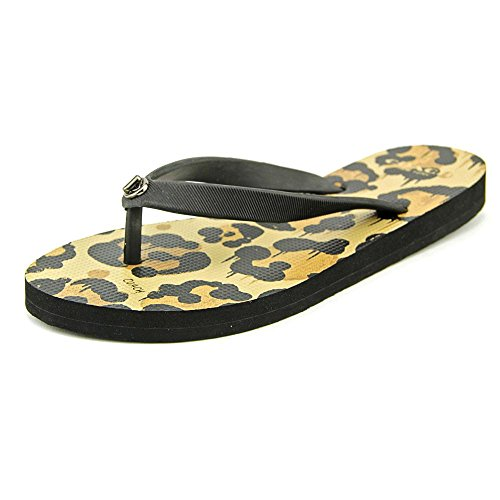 Coach Alyssa Rubber Wild Beast Synthétique Tongs Black-Natural