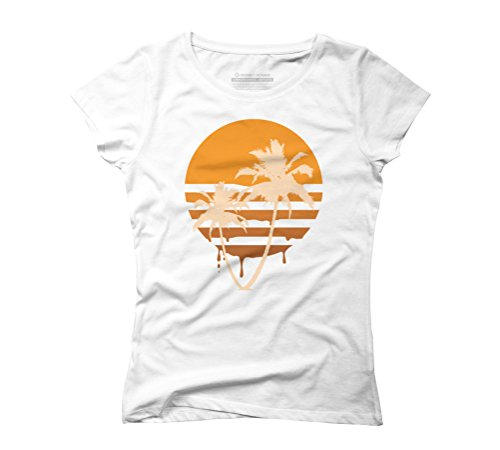 Melty Summer Women's Graphic T-Shirt - Design By Humans White