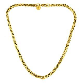 Königs-Kette rund Gold Doublé 4 mm 45 cm Halskette Gold-Kette Herren-Kette Damen Geschenk Schmuck ab Fabrik Italien tendenze BZGYRds4-45v