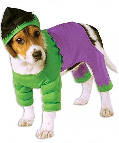 Haustier Hund Katze Unglaubliche Hulk Super Hero Halloween Kostüm Kleid Outfit S-XL - XL