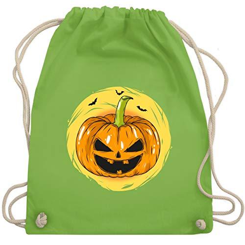 Halloween - Halloween Kürbis Gesicht - Unisize - Hellgrün - WM110 - Turnbeutel & Gym Bag (Halloween-kürbisse Schaurige Gesichter Für)