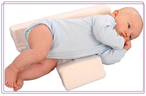Zaffiro Stützkissen Lagerungskissen für Baby 2 Keilen-Seitenschläferkissen Schlafhilfe-weiss