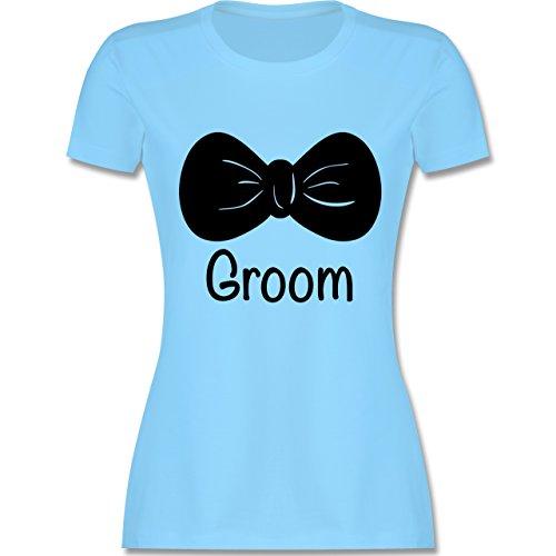 Hochzeit - Fliege Groom - Bräutigam - tailliertes Premium T-Shirt mit  Rundhalsausschnitt für Damen