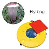 Docooler Outdoor Hanging Type Fly Attracting Bag Useful Flies The Ultimate Red Drosophila Fly Wasp Insect Bug Killer Trap Flies Away for Home Hanging Garden Tools