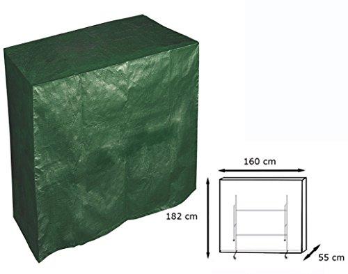 Woltu GZ1165 Coperture per Tavolo da Pingpong Telo di Copertura Protezione Cover Impermeabile Antipolvere polietilene PE Mobili Giardino Verde 182x160x55 cm