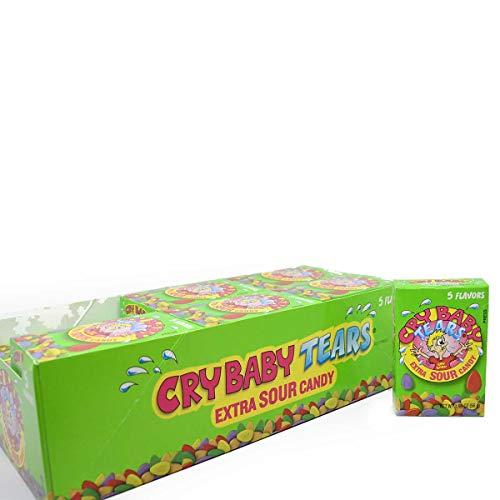 Cry Baby Tränen Extra Sour Candy, fünf Geschmacksrichtungen, 1.98-ounce Kästchen (24Stück) (Candy Cry Baby)