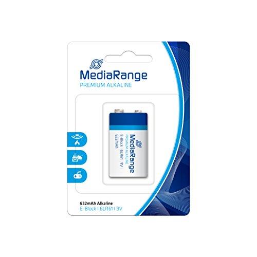 MediaRange MRBAT107 (Piles-Basique De Forme Cylindrique 9 V) Noir Bleu