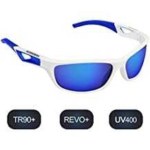 Polarisierte Sportbrille Sonnenbrille Fahrradbrille mit UV400 Schutz für Damen & Herren Autofahren Laufen Radfahren Angeln Golf TR90 3B1V1