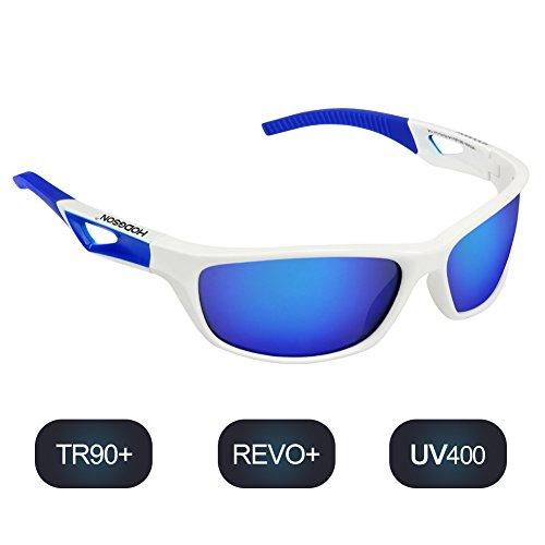 BTERDNE Sportbrille Polarisiert Fahrradbrille Sport Sonnenbrille für Herren und Damen UV400 Schutz Extra Leicht TR90 Rad Autofahren Laufen Golf 4Vuuf1dCU