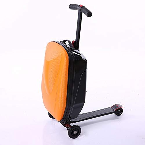 XDD 20''Gepäckroller, zusammenklappbarer Rollkoffer & Trolley Multifunktionales Hartschalengepäck-Reiserad-Skateboard für die Travel Business Academy