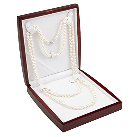 AAA Blanc 7,5–8mm d'eau douce Collier de perles de culture, 64en corde