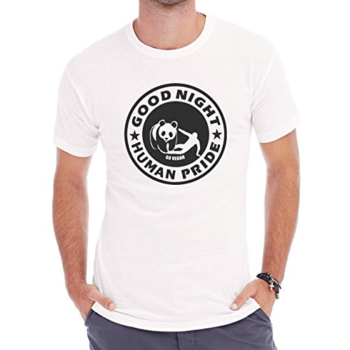 Good Night Human Pride Go Vegan Herren T-Shirt Weiß