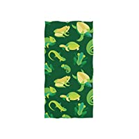 FANTAZIO Premium Cotton Towel Frogs And Reptiles Luxury Cotton Washcloth