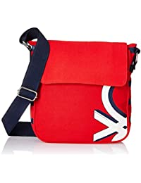 United Colors of Benetton Fabric 23 cms Red Gym Shoulder Bag (18A6MBAG6685I)