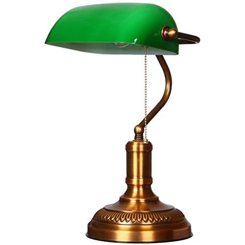 Lampe banquier abat-jour vert bronze traditionnel lampes de bureau étude de bureau conceptions simples oeil soins lecture liseuses or