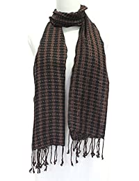 Vozaf Women's Viscose Shawls - Brown And Black