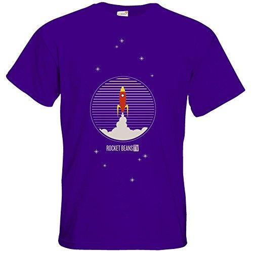 getshirts - Rocket Beans TV Official Merchandising - T-Shirt - Rakete Purple