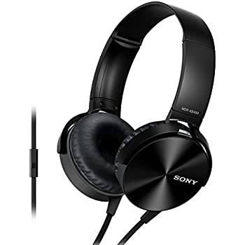 Sony Extra Bass MDR-XB450AP On-Ear Headphones with Mic (Black)