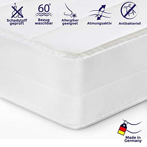 Mister Sandman ergonomische 7-Zonen-Matratze für erholsamen Schlaf - Kaltschaummatratze mit hochwertigem Mikrofaserbezug, 2in1 Härtegrad H2&H3, Höhe 15cm (60 x 120 cm, H2&H3)