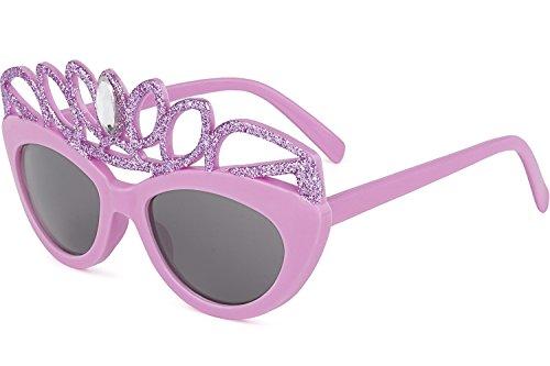 Sonnenbrille Mädchen Prinzessin| 100% UV400 Schutz für die Augen | Alter: 6-12 Jahre Kids Junior Kinder | Lustiges Design | Rosa