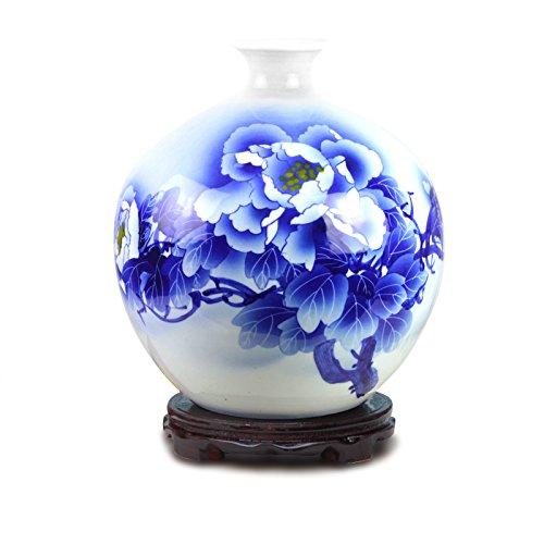 ZHFC-die blau - weißen porzellan keramik berühmten handgemalten moderne mode dekoration dekoration handwerk vase granatapfel,von hand bemalt apple - flasche (Apple Bemalt Von Hand)