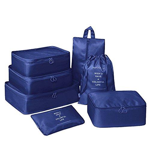 Rojeam Compression Waterproof Mesh Reisegepäck Organisatoren mit 7 Set Verpackung Würfel