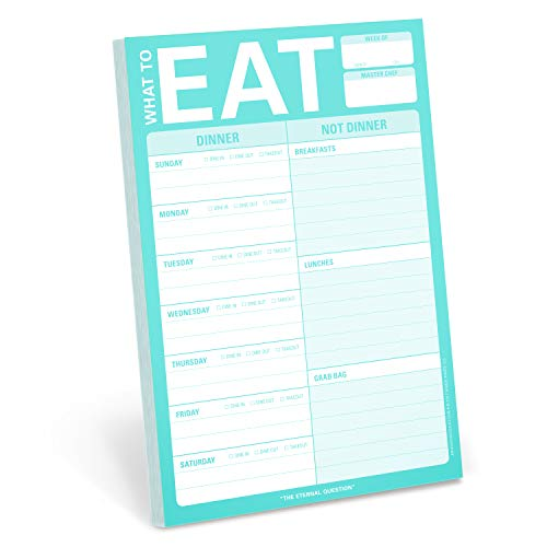 Knock Knock What to Eat Pad (Mint Green) (Stationery) -