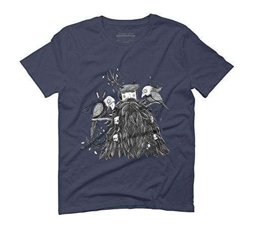 BirdBeard Men's Graphic T-Shirt - Design By Humans Navy
