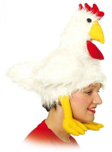 Kostüm Kopfbedeckung - Hut Huhn Gockelhut Hahnhut Hühnerhut Tierhut Kostüm