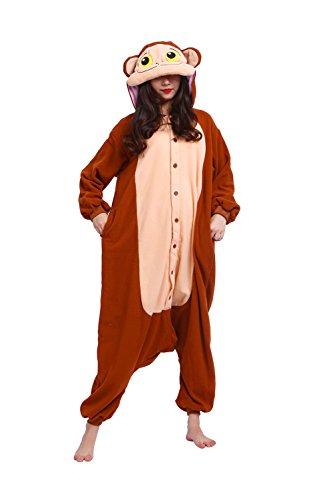 DarkCom Frauen Affen Onesies Pyjamas Unisex Halloween Kigurumi Anime Overalls Cosplay Kostüme Nachtwäsche