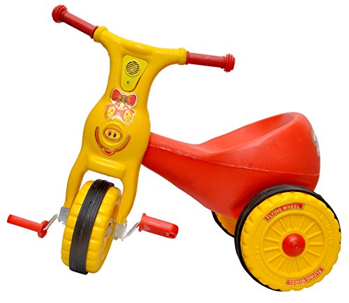Toyshine Ducky Baby Tricycle Ride-on Bicycle, ABS Plastic, Unbreakable, Red, 1-2 Years  available at amazon for Rs.1399
