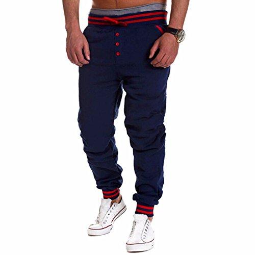 Men's Harem Casual Baggy HipHop Trousers Dark Blue